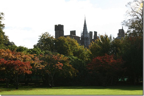 cardiff castle from bute park day 6